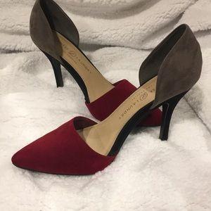 Beautiful Stylish Red & Grey Heels